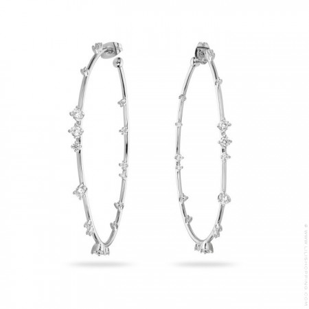 Hoops silver platted earrings