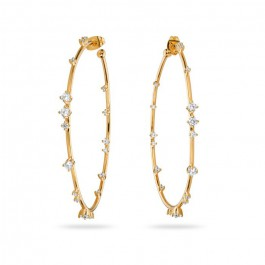 Cross gold platted earrings