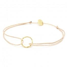 Bracelet lurex et anneau martelé plaqué or