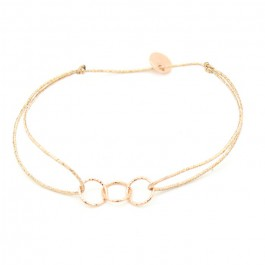Pink gold platted on a lurex Bracelet