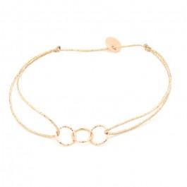 Bracelet lurex et plaqué or rose