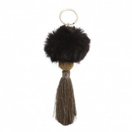 Bijou de sac - porte clé Hipanema Fluffy black