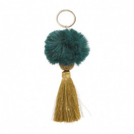 Bijou de sac - porte clé Hipanema Fluffy green
