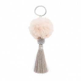 Bijou de sac - porte clé Hipanema Fluffy off white