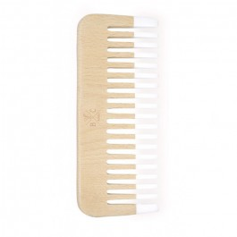 Natural wooden round comb