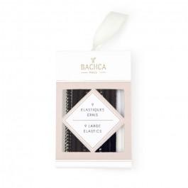9 élastiques épais noirs Bachca