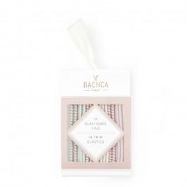 14 élastiques fins pastels Bachca