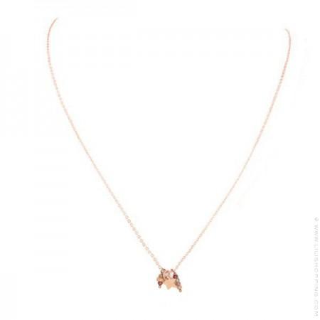 Collier léa étoile plaqué or rose sur chaine
