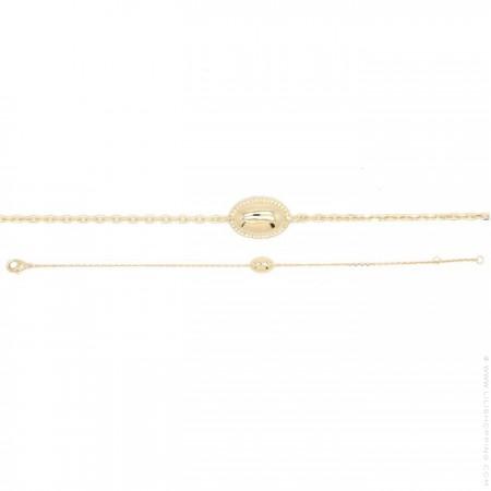 Bracelet Cabochon plaqué or