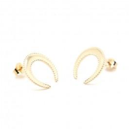 Boucles d'oreilles plume plaquée or