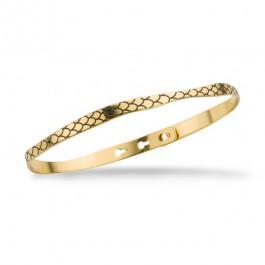 Bracelet python noir plaquée or
