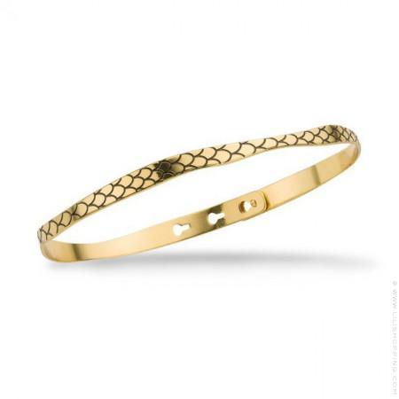 Black snake gold platted bracelet