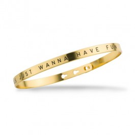 Bracelet I love you Ti amo Je t'aime Te quiero corail plaqué or