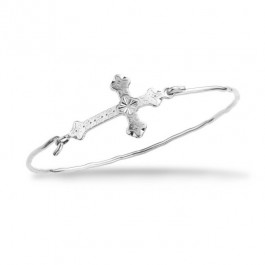 Barcelona cross silver platted bracelet