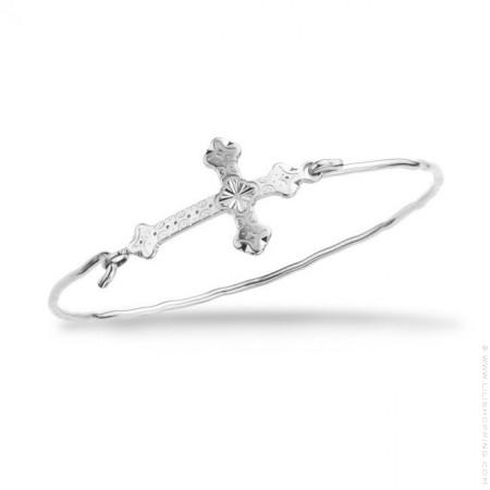 Barcelona cross silver platted bracelet