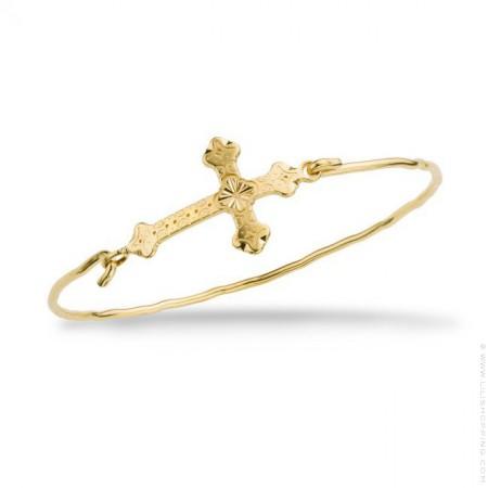 Barcelona cross gold platted bracelet