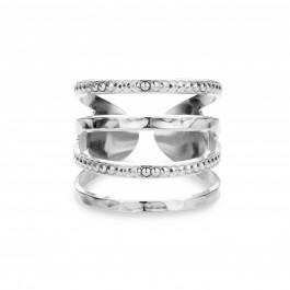 Wide bubbles Silver Plated Ring
