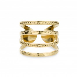 Wide bubble Gold Plated Ring