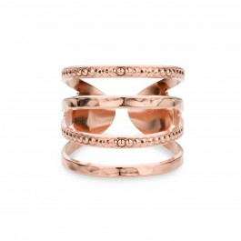 Wide ubble Rose Gold Plated Ring