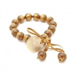 Bracelet enfant pailleté doré