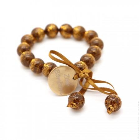 Bracelet enfant pailleté doré foncé
