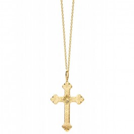 Barcelona Cross Gold platted necklace