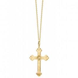 Collier plaqué or croix plaqué