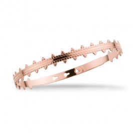 Barcelona cross pink gold platted bracelet