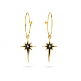 Comete gold platted earrings