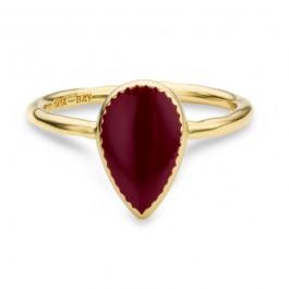 Black enamelled Bangaram gold Plated Ring