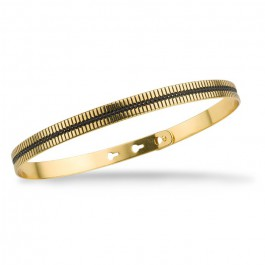 Rani black enamelled gold platted bracelet