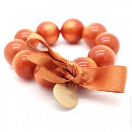 Orange XL bracelet Zoe Bonbon