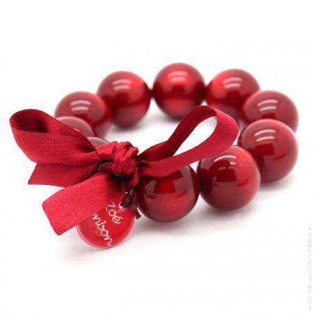 Bracelet XL nacré rouge
