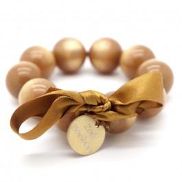 Bracelet XL nacré doré