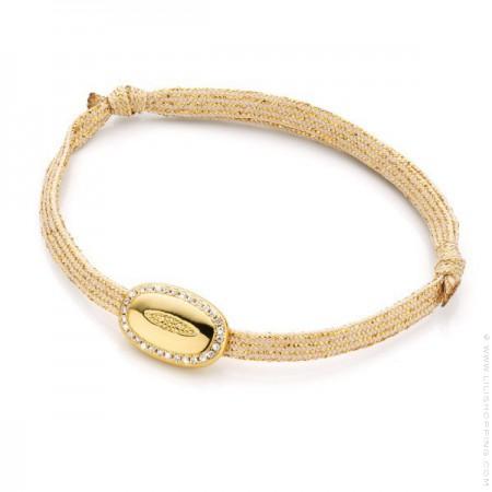 Gold plated raindrop bracelet