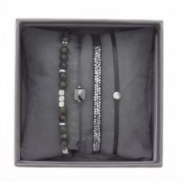 Bracelets Ultra fine rocks gris