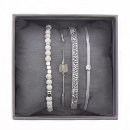 Beige ultra fine rocks bracelets