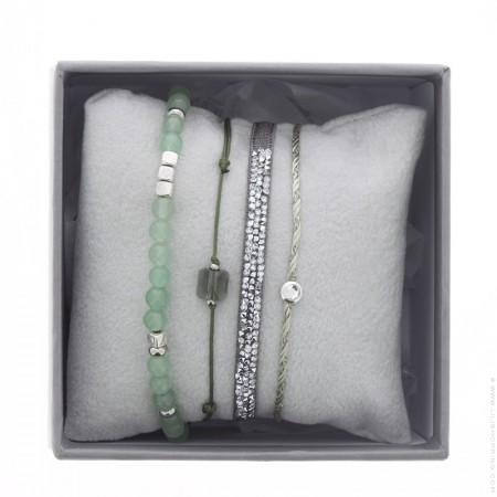 Dark green ultra fine rocks bracelets