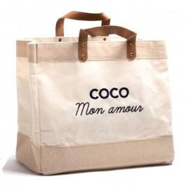 Sac cabas Le Mademoiselle Coco mon amour noir