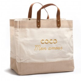 Sac cabas Le Mademoiselle Coco mon amour gold