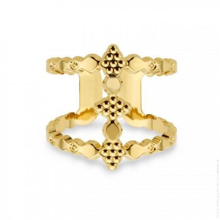 Bague Icone revisitée plaquée or