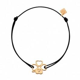 Bracelet Trèfle plaqué or