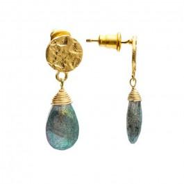 Boucles d'oreilles goutte Athena améthyste