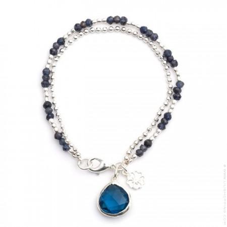 Bracelet double chaine Athena iolite