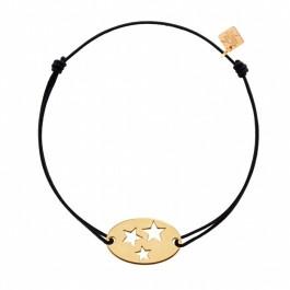 Bracelet 3 étoiles plaqué or