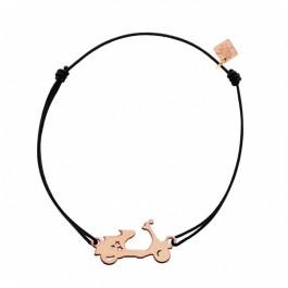 Bracelet Vespa plaqué or rose