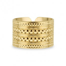 Bague Maharaja plaquée or