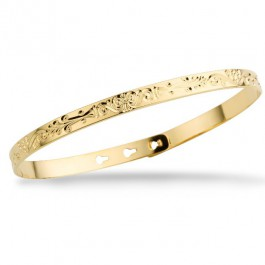 Arabesque gold platted bracelet