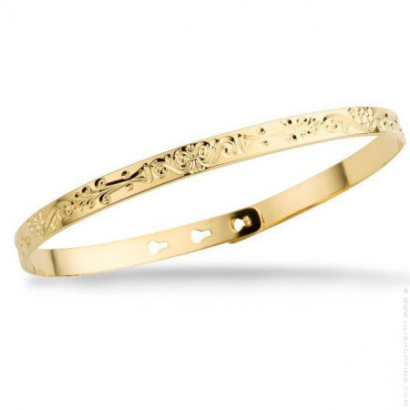 Arabesque gold platted bracelet