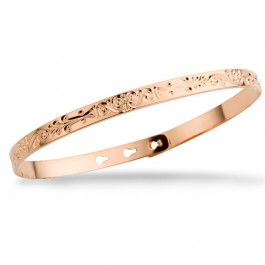 Arabesque pink gold platted bracelet